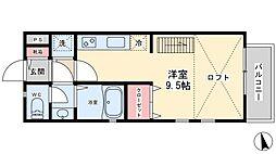 Quatre・Saisons新松戸[203号室]の間取り