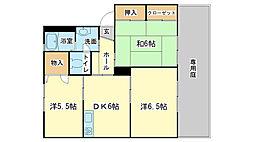エコーズユタカ D棟[D202号室]の間取り