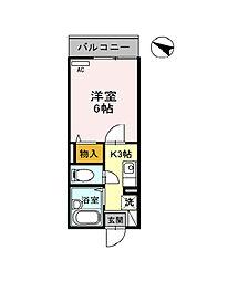 リバービュー垂水[2階]の間取り