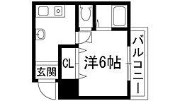 兵庫県西宮市段上町4丁目の賃貸マンションの間取り