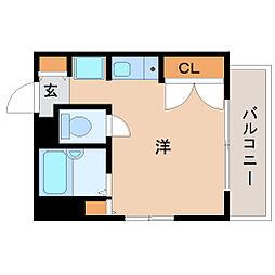 兵庫県尼崎市東難波町2丁目の賃貸マンションの間取り