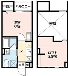 ディアコート石津川[1階]の間取り