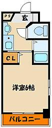 YKハイツ中崎II[3階]の間取り