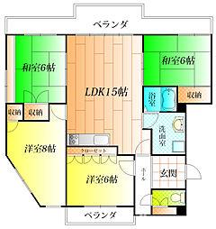 カーサ峰塚[3階]の間取り