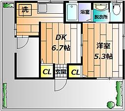[一戸建] 東京都立川市富士見町1丁目 の賃貸【/】の間取り