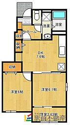 Rest HouseIII B[103号室]の間取り