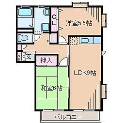 神奈川県横浜市都筑区牛久保1丁目の賃貸アパートの間取り