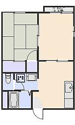 ハイツ光B[2階]の間取り