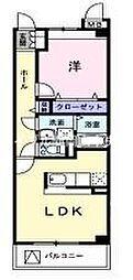 岡山県岡山市北区津島福居1丁目の賃貸マンションの間取り