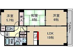 グローバルサイト茨木[3階]の間取り