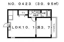 レジーナファースト I[2階]の間取り