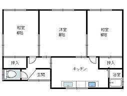 [一戸建] 青森県八戸市小田1丁目 の賃貸【/】の間取り