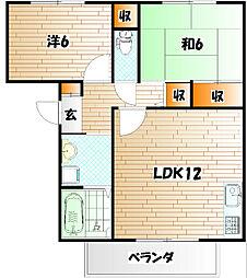 シサーラ B棟[2階]の間取り