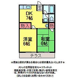 千葉県佐倉市王子台2丁目の賃貸アパートの間取り