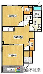 ドミールシャルマンIII[1階]の間取り