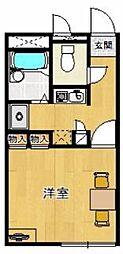レオパレスセリバテール仁川[1階]の間取り