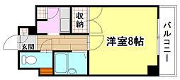 広島県広島市南区宇品西2丁目の賃貸マンションの間取り