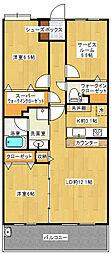 京成千原線 千葉中央駅 徒歩1分の賃貸マンション 13階2SLDKの間取り