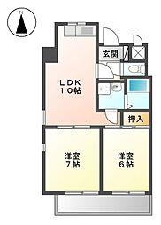 愛知県名古屋市東区出来町3丁目の賃貸マンションの間取り