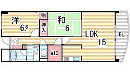 ファムール忍ケ丘[2階]の間取り