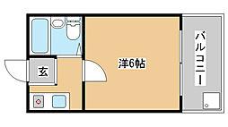 兵庫県神戸市須磨区大田町6丁目の賃貸アパートの間取り