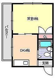 清洲プラザ湯里[4階]の間取り