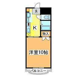 広島県東広島市西条中央 7丁目の賃貸マンションの間取り