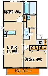 ソレイユ南別府[2階]の間取り