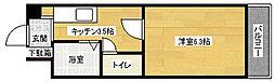 広島県広島市安佐南区西原8丁目の賃貸マンションの間取り