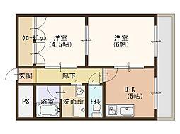 ラパンジール京橋[4階]の間取り