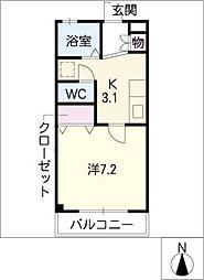 アミティエ[2階]の間取り