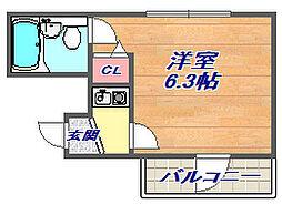 兵庫県神戸市灘区船寺通1丁目の賃貸マンションの間取り