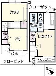 ドリームK−1[2階]の間取り