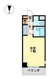オアシスミズホ[2階]の間取り