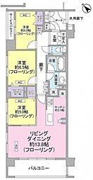 東京都大田区南雪谷3丁目の賃貸マンションの間取り