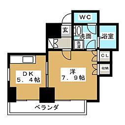 桂山サコウハイツYON[5階]の間取り
