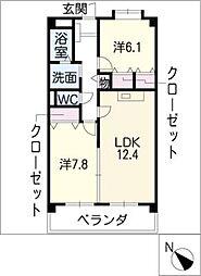 レーチェ[3階]の間取り