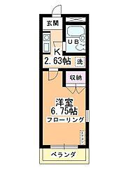 スイートマンション[2階]の間取り