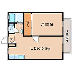 奈良県奈良市北之庄西町の賃貸マンションの間取り