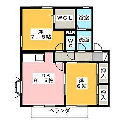 Le−Couple A[1階]の間取り