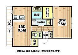 クレッシェンド黒崎[2階]の間取り