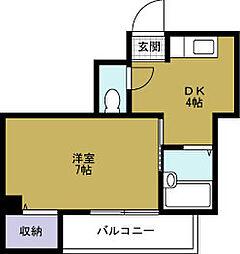 ハイツ渡辺4[6階]の間取り