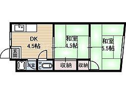 鶴見マンション[4階]の間取り