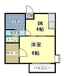 ステーションハウスB[2階]の間取り