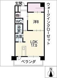 ソレイユ徳川[7階]の間取り