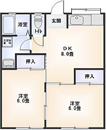 星崎第2アパート[222号室]の間取り