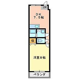 タイム18[3階]の間取り