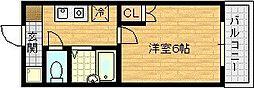 エムロード都島[8階]の間取り