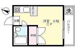 スカイマンション[206号室]の間取り