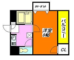 サツキ・マンション 401号室[4階]の間取り